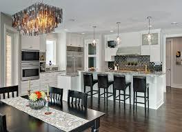 rectangle chandelier kitchen contemporary with breakfast bar ceiling lighting dark floor eat