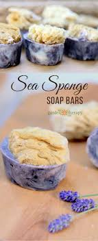 learn how to make organic looking handmade sea sponge soap topped with natural sea sponges