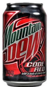 caffeine in mounn dew code red