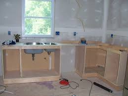 Constructing Kitchen Cabinets Frameless Cabinets Brown Coating Wooden Hickory Ideas Building