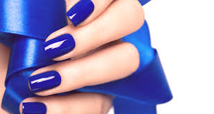 Modrá Manikúra 2019 Módní Trendy Fotografie Design