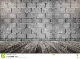light wood floor perspective. Concrete Cement Brick Block Wall And Wooden Floor Perspective With The Light On Top Corner Wood