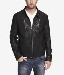 details about new express 228 mens black minus the leather perforate biker jacket sz xs