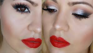 eye makeup with red lips clic smokey eye makeup holiday makeup red lips you
