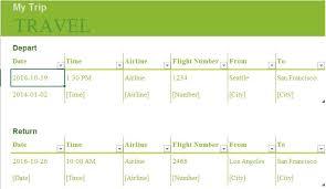 Travel Trip Planner Trip Planner