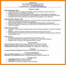 7 Resume Skill Samples Activo Holidays