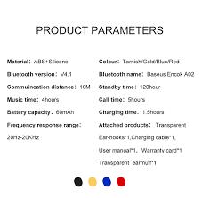 <b>Baseus Mini Wireless</b> Bluetooth Earphone For iPhone X 8 Samsung ...