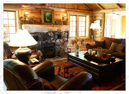 Rustic living room idea in Boise with a standard fireplace and a stone  fireplace