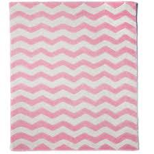 pink chevron rug