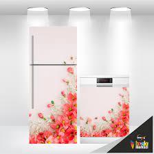 Buzdolabı Ve Bulaşık Makinesi Kapak Folyo Kaplama Çiçekler - Lazımbana'da