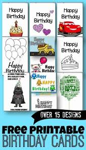 It is not necessary to draw it completely from scratch, you. Free Printable Birthday Cards