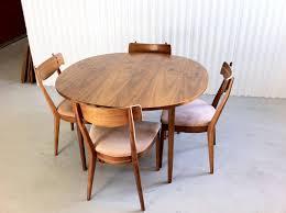 midcentury modern dining chairs. mid century modern drexel declaration dining set with 4 walnut chairs by kipp stewart midcentury