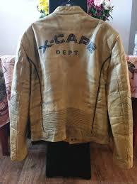 100 genuine leather biker racer jacket
