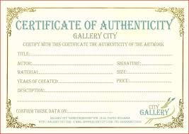 Sample Certificate Of Authenticity Photography Best Of Template Art