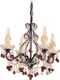 4504 dr dark rust chandelier dressed with clear and amber crystal crystorama 4504 paris flea crystal chandelier