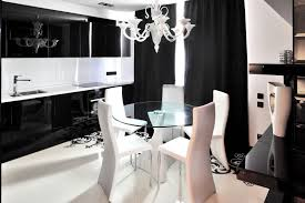 apartment black and white home decor white dining furnishing