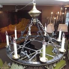 gothic revival bronze monkey band chandelier by maitland smith for
