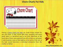 Daily Chore Charts For Family