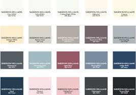 winter spring 2019 color palette w19 sherwin palette paint colors