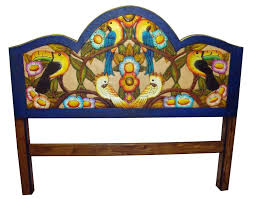 painted mexican furnitureTropical Hand Painted Mexican Headboards  AroundtheWorldFurniture