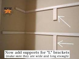 how to build shelves in a closet install