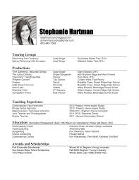 How To Make A Performance Resume Music Resume Format For College Elegant Examples Byu Teach Sevte 1