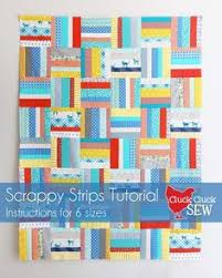An easy first quilt project - if you can cut and sew in a straight ... & Scrappy Strips Quilt Tutorial Adamdwight.com