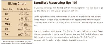 Pregnancy Stomach Measurement Chart Original Belly Bandit Post Pregnancy Belly Bandit