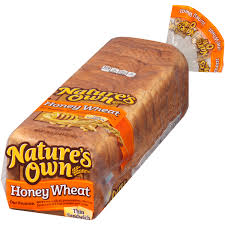 nature s own honey wheat bread nutrition photos and descriptions