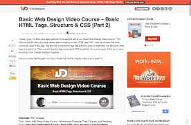 Web Design Structure Basic Web Design Video Course Basic Html Tags Structure