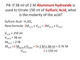 Titration Formula Acid Base Titration Finding The Amount Of Acetyl Salicylic Acid In