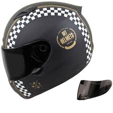 mt matrix cafe racer motorcycle helmet visor