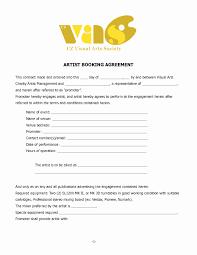 makeup service contract template inspirational artist contract template