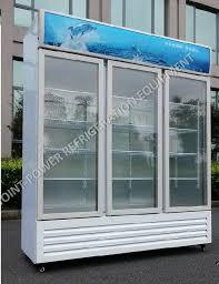 china good quality 3 glass door freezer drink showcase fridge display china drink showcase island freezer