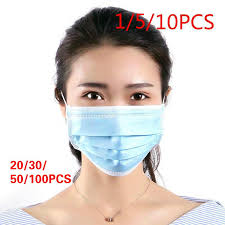 <b>Disposable 3-Layer Non-woven</b> Face Mask Anti-Dust Anti-bacterial ...