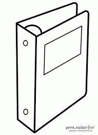Binder Or Notebook Coloring Page Print Color Fun