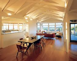 ceiling up lighting. Cathedral Ceiling Lighting Wall Sconces Wood Beams Beadboard Couches Dining Table And Chairs Windows Up E