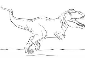 juric park t rex coloring page