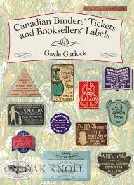 Labeling Binders Canadian Binders Tickets And Booksellers Labels By Gayle Garlock On Oak Knoll