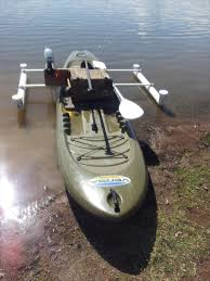 diy electric motor mount and outriggers for sup