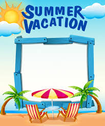 frame template with summer vacation on