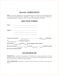 Investor Contract Template Free Doc24 Investors Contract Agreement Investment Contract 1