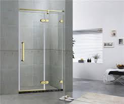 hotel frameless sliding shower doors 8mm tempered glass with green bronze inline