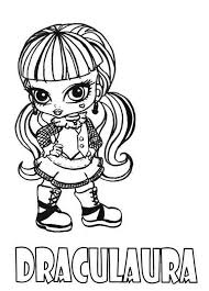 Small Picture Download and Print Draculaura Little Girl Monster High Coloring