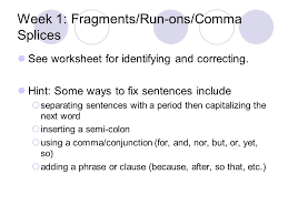 DOL—your dose of daily grammar: ) English L112. Week 1: Fragments ...