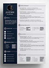 Cool Resume Templates Free Magnificent FreeCreativeResumeTemplateinPSDFormat Templates Pinte