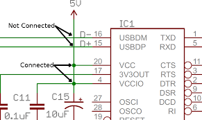 how to read a schematic learn sparkfun com a wiring diagram of a circuit example of connected an disconnected nodes