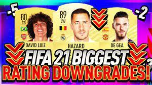 FIFA 21 | BIGGEST RATING DOWNGRADES!!! (FT. HAZARD, DAVID LUIZ, JESSE  LINGARD & MORE!!!) - YouTube