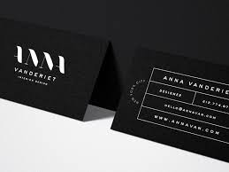 Anna Vanderiet Interior Design Business Card By Mel Volkman Interesting Business Cards Interior Design
