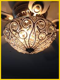 awesome tired of the boring ceiling fan light kits a sparkly flush picture for chandelier combo